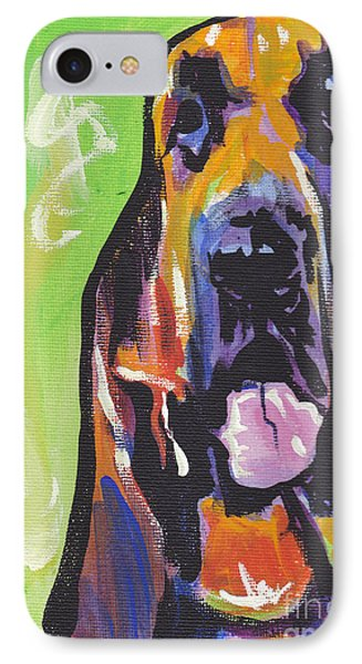 The Droopy Bloodhound IPhone Case by Lea S