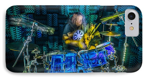 The Drummer IPhone Case by David Morefield