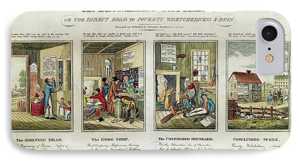 The Drunkard's Progress IPhone Case by Library Of Congress