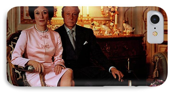The Duke And Duchess Of Windsor In Their Paris IPhone Case by Horst P. Horst