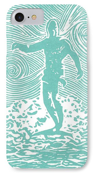 The Duke In Aqua IPhone Case by Stephanie Troxell