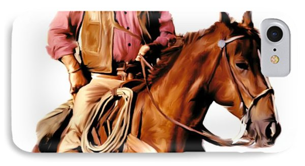 The Duke  John Wayne IPhone Case by Iconic Images Art Gallery David Pucciarelli