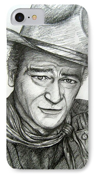 IPhone Case featuring the drawing The Duke John Wayne by Patrice Torrillo