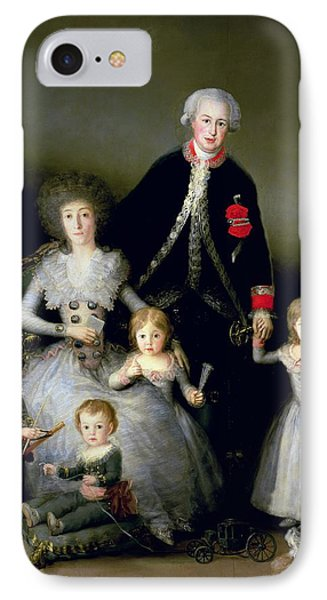 The Duke Of Osuna And His Family, 1788 Oil On Canvas IPhone Case by Francisco Jose de Goya y Lucientes