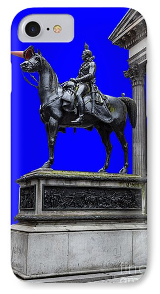 The Duke Of Wellington Goma Blue Phone Case by John Farnan