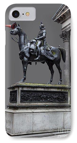 The Duke Of Wellington Goma  Grey Phone Case by John Farnan