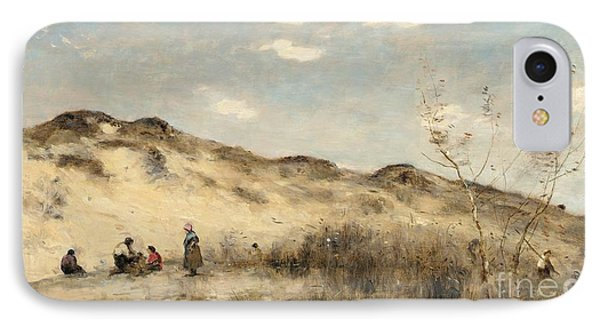 The Dunes Of Dunkirk Phone Case by Jean Baptiste Camille Corot