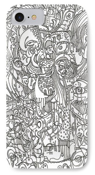 IPhone Case featuring the drawing The Eagle's Eye Is The Brow Of Mine by Michael Ciccotello