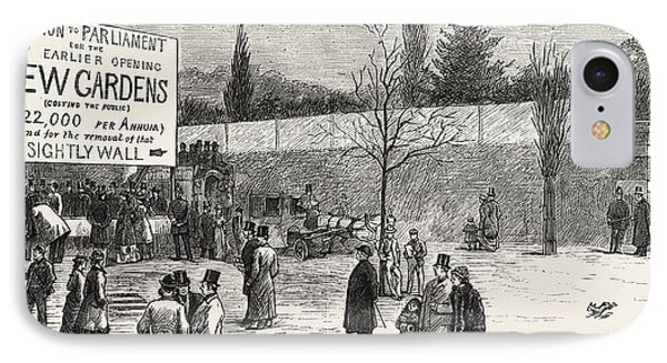 The Earlier Opening Of Kew Gardens  Scene On Easter Monday IPhone Case