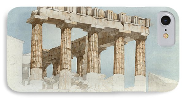 The East End And South Side Of The Parthenon, C.1813 Wc & Graphite On Paper IPhone Case