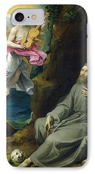 The Ecstasy Of St. Francis Of Assisi IPhone Case by Guiseppe Cesari