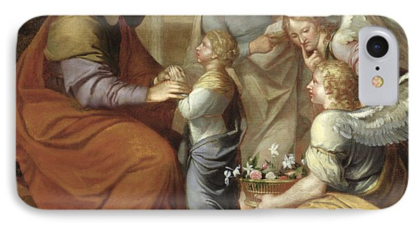 The Education Of The Virgin, 1658 Oil On Canvas IPhone Case