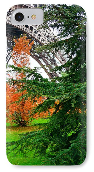 The Eiffel In Fall IPhone Case