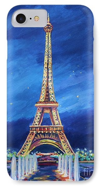 The Eiffel Tower And Fountains IPhone Case by John Clark