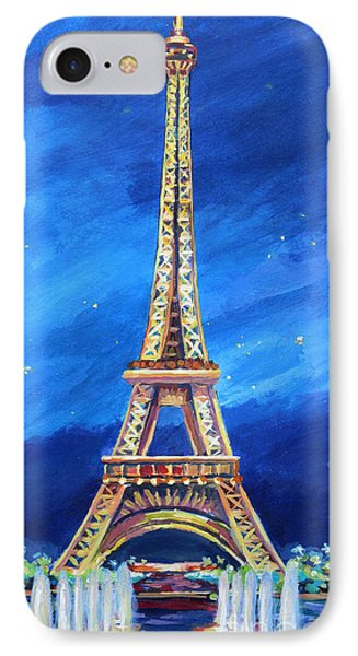 The Eiffel Tower At Night IPhone Case by John Clark