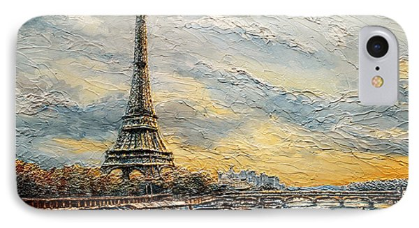 The Eiffel Tower- From The River Seine IPhone Case by Joey Agbayani