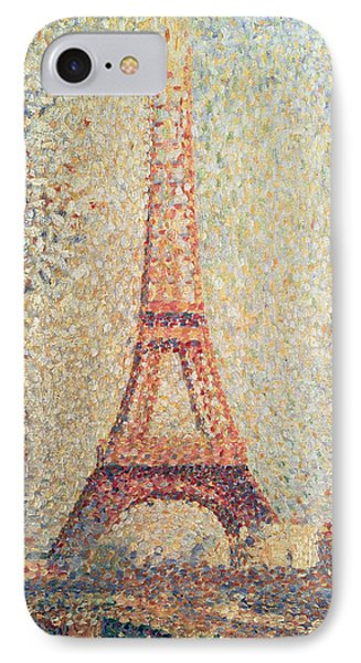 The Eiffel Tower IPhone Case by Georges Pierre Seurat
