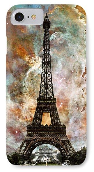 The Eiffel Tower - Paris France Art By Sharon Cummings IPhone 7 Case by Sharon Cummings
