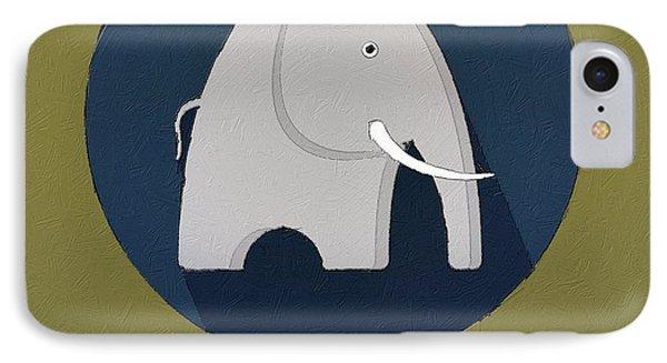 The Elephant Cute Portrait IPhone Case by Florian Rodarte