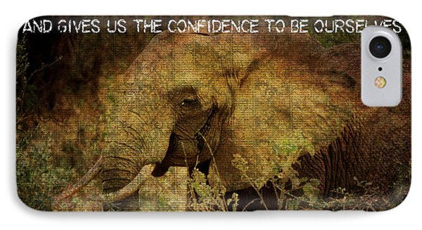 IPhone Case featuring the digital art The Elephant - Inner Strength by Absinthe Art By Michelle LeAnn Scott