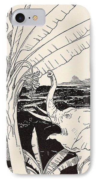 The Elephant's Child Going To Pull Bananas Off A Banana-tree Phone Case by Joseph Rudyard Kipling