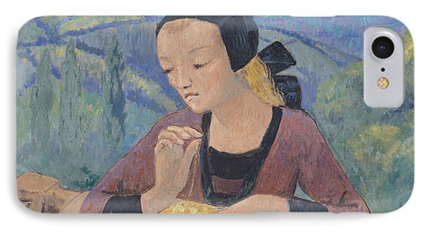 The Embroideress IPhone Case by Paul Serusier