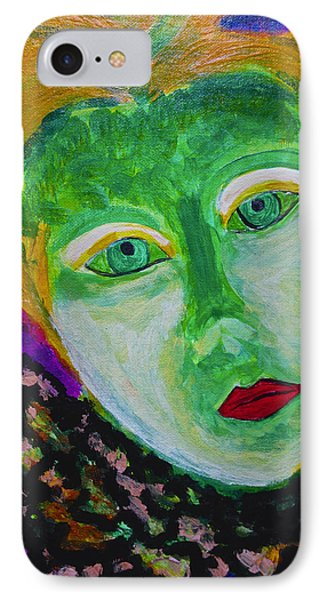 IPhone Case featuring the painting The Emerald Lady by Joan Reese