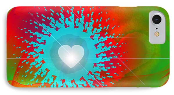 The Emergence Of Love IPhone Case by Ute Posegga-Rudel