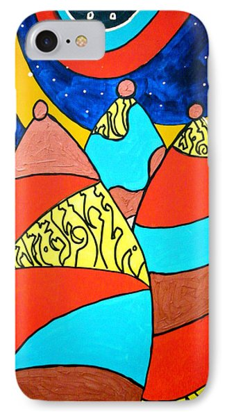 IPhone Case featuring the painting The Emissaries by Clarity Artists