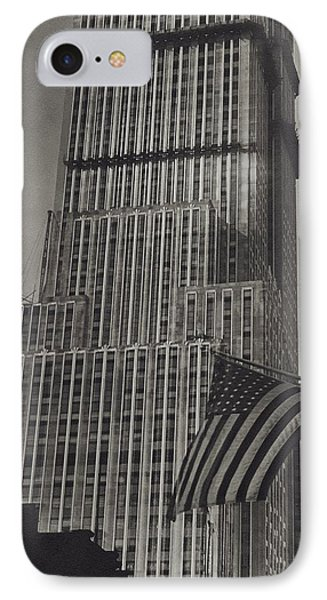 The Empire State Building In New York City IPhone Case by Sherril Schell