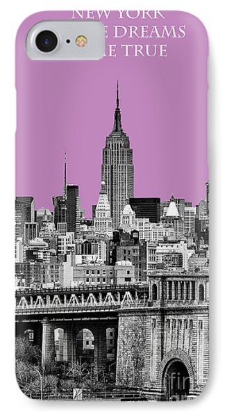 The Empire State Building Pantone African Violet IPhone Case