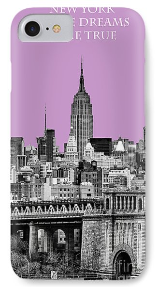 The Empire State Building Pantone African Violet Light IPhone Case