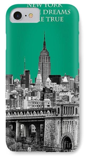 The Empire State Building Pantone Emerald IPhone Case by John Farnan