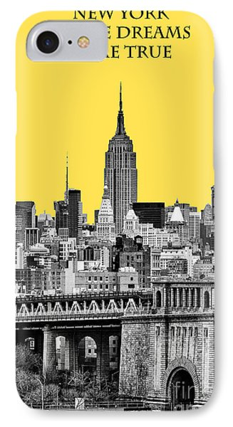 The Empire State Building Pantone Yellow IPhone Case by John Farnan