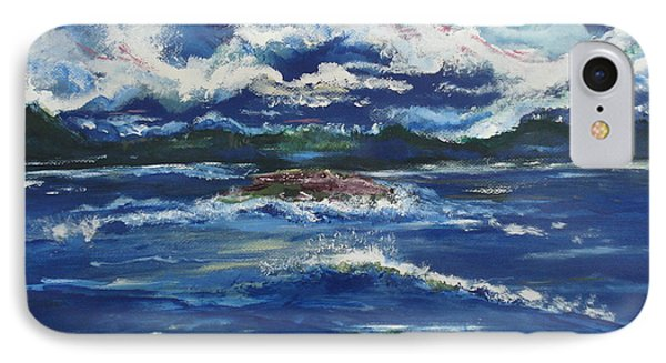 IPhone Case featuring the painting The Enchanting Sea  by Lori  Lovetere