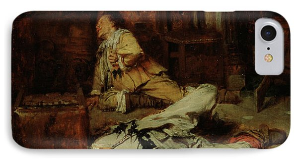 The End Of The Game Of Cards Phone Case by Jean Louis Ernest Meissonier