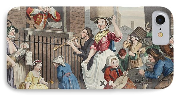 The Enraged Musician, Illustration Phone Case by William Hogarth