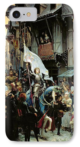 The Entrance Of Joan Of Arc Into Orleans IPhone Case by Jean-Jacques Scherrer