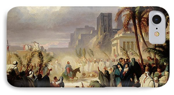 The Entry Of Christ Into Jerusalem IPhone Case by Louis Felix Leullier