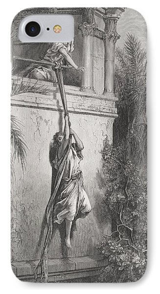 The Escape Of David Through The Window IPhone Case