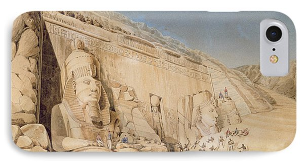 The Excavation Of The Great Temple IPhone Case by Louis M.A. Linant de Bellefonds