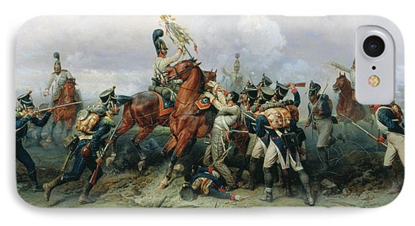 The Exploit Of The Mounted Regiment In The Battle Of Austerlitz, 1884 Oil On Canvas IPhone Case by Bogdan Willewalde