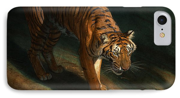 The Eye Of The Tiger Phone Case by Aaron Blaise