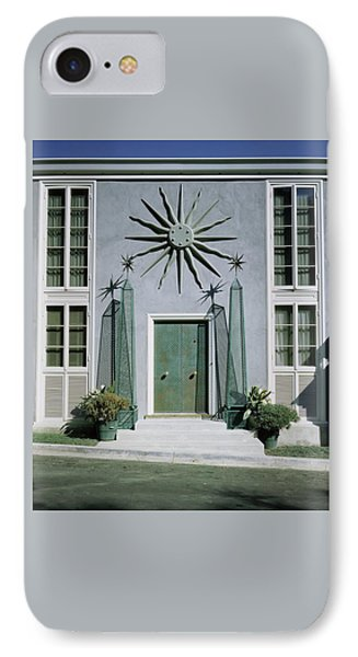 Beverly Hills iPhone 7 Case - The Facade Of Tony Duquette's House by Shirley C. Burden