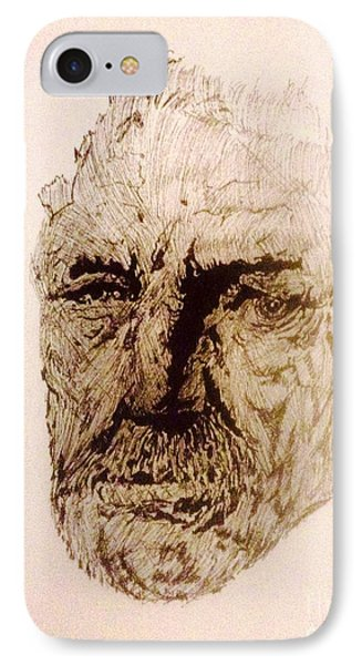 The Face IPhone Case by Franky A HICKS