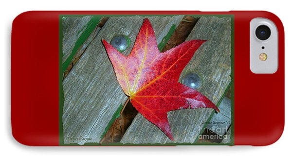 IPhone Case featuring the photograph The Face Of Autumn by Leanne Seymour