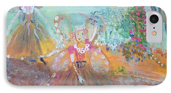 The Fairies And The Artist IPhone Case by Judith Desrosiers