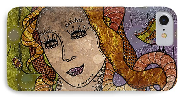 IPhone Case featuring the digital art The Fairy Godmother by Barbara Orenya