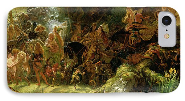 The Fairy Raid IPhone Case by Sir Joseph Noel Paton