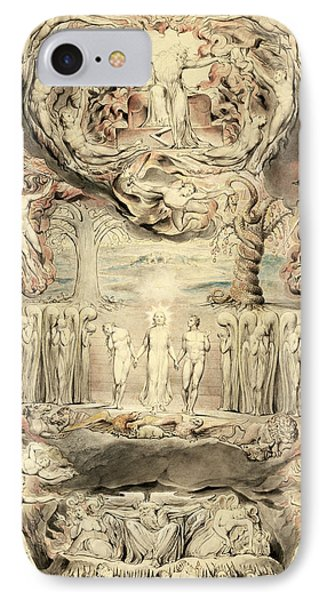 The Fall Of Man IPhone Case by William Blake